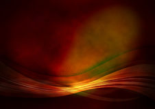 Raster red background. With light shiny waves stock illustration