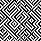 Raster sömlösa svartvita geometriska Patttern vektor illustrationer