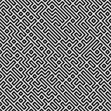 Raster sömlösa svartvita geometriska Patttern Arkivbilder