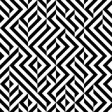 Raster Seamless Black And White Geometric Patttern Stock Images
