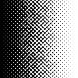 Raster Seamless Black and White Truchet Halftone Gradient Pattern Royalty Free Stock Photo