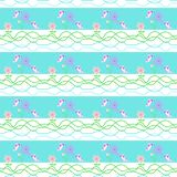 Seamless decorative pattern for children clothes, wallpaper design, textiles stock illustration