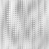 Raster Seamless Greyscale Gradient Vertical Stripes And Circles Pattern Stock Photos