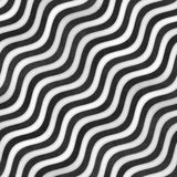 Raster Seamless Greyscale Texture. Gradient Wavy Lines Pattern. Subtle Abstract Background Stock Images