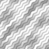 Raster Seamless Greyscale Texture. Gradient Wavy Lines Pattern. Subtle Abstract Background Royalty Free Stock Image