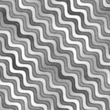 Raster Seamless Greyscale Texture. Gradient Wavy Lines Pattern. Subtle Abstract Background Royalty Free Stock Images