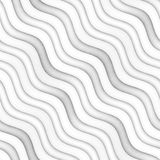 Raster Seamless Greyscale Texture. Gradient Wavy Lines Pattern. Subtle Abstract Background Royalty Free Stock Photography