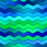 Raster Seamless Horizontal Wavy Blue Green Gradient Lines Water  Texture Stock Photo