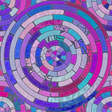 Raster Seamless Multicolor Pink Blue Shades Brick  Pavement Circular Tiling Pattern Royalty Free Stock Photography