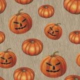 Raster seamless pattern with Halloween pumpkins royalty free illustration