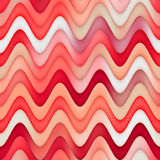 Raster Seamless Red Pink White Color Shades Gradient Wavy Line Marbling Effect Pattern. Abstract Background stock illustration