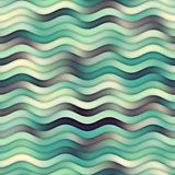 Raster Seamless Teal Navy White Color Shades Gradient Ocean Wavy Line Pattern Royalty Free Stock Photo