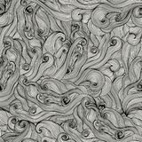 Raster seamless texture with abstract waves. Endless background Stock Photos