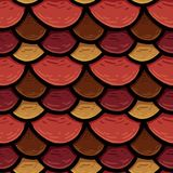 Raster seamless texture of the roof cover, tile with circles stock illustration