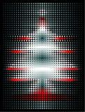 Raster-Weihnachtsbaum Stockfotografie