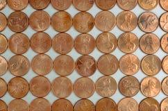 Rasterfeld der Pennys Lizenzfreie Stockfotografie