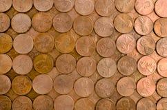 Rasterfeld der Pennys Stockbild