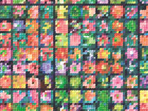 Rasterfeld-Halbtonhintergrund Stockbilder