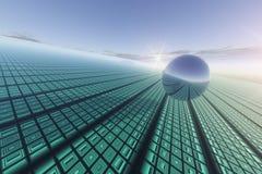 Rasterfeld-Technologie-Hintergrund vektor abbildung
