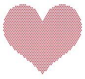 rasterhjärtamodell Arkivfoto