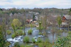 Rastoke村庄,克罗地亚 库存照片