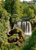 Rastoke, Chorwacja, siklawa w zielonej naturze Obraz Stock