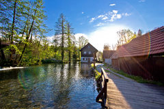 Rastoke village on Korana river Royalty Free Stock Photos