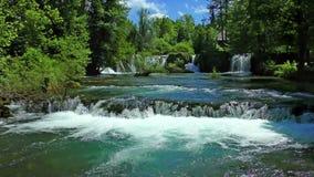 Rastoke WaterfallsCroatia stock video