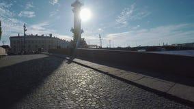 Rastralnyetoren in St. Petersburg stock videobeelden
