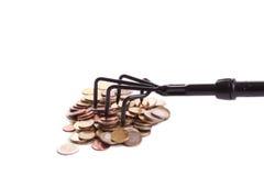 Rastrellatura dei soldi Fotografie Stock Libere da Diritti