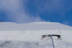 Rastrellatura del tetto Immagini Stock