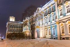 Rastrelli Winter Palace. Winter Palace (Hermitage museum) by Rastrelli. Saint-Petersburg, Russia Stock Image