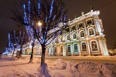 Rastrelli Winter Palace. Winter Palace (Hermitage museum) by Rastrelli. View from Neva-river. Saint-Petersburg, Russia Stock Photos