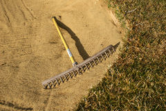 Rastrello della sabbia Immagini Stock