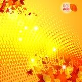 Rastrerad bakgrund 1 för gul höstmallvektor Vektor Illustrationer