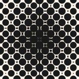 Rastrerad cirkelmodell Geometrisk sömlös textur med cirklar, fyrkanter, prickar royaltyfri illustrationer