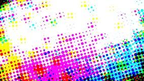 Rastrerad effekt för flerfärgad regnbågsskimrande retro closeup lager videofilmer