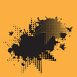 rastrerad färgpulversplat för grunge Royaltyfri Fotografi
