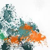 Rastrerad grungemodellbakgrund för reklambladmall stock illustrationer