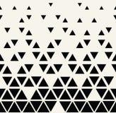 Rastrerad modell för abstrakt geometrisk svartvit triangel för grafisk design royaltyfri illustrationer