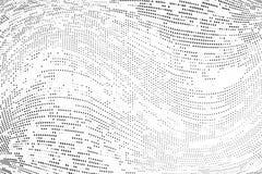Rastrerad modell för abstrakt monokrom grunge Vektorillustration med prickar Modern stads- futuristisk bakgrund royaltyfri illustrationer