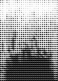 Rastrerad modell Format för räkning A4, mall för affisch Arkivbilder