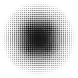 Rastrerad modell/textur för cirkel Monokromma halvtonprickar royaltyfri fotografi