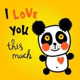 Rastrerad panda Arkivbild