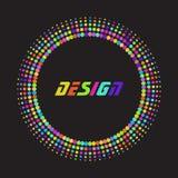 Rastrerad prick för färgrikt regnbågeabstrakt begrepp Royaltyfri Bild
