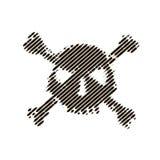 Rastrerad skalle, linje, våg vektor för bild för designelementillustration Inbjudan parti Affischtavla reklamblad symbol Arkivbilder