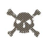 Rastrerad skalle, linje, våg vektor för bild för designelementillustration Inbjudan parti Affischtavla reklamblad symbol Royaltyfri Bild