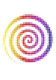 rastrerad spiral Royaltyfri Foto
