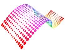 rastrerad wave för färgrika prickar Royaltyfri Foto