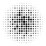 Rastrerade cirklar, rastrerad prickmodell Monokromt raster royaltyfri illustrationer